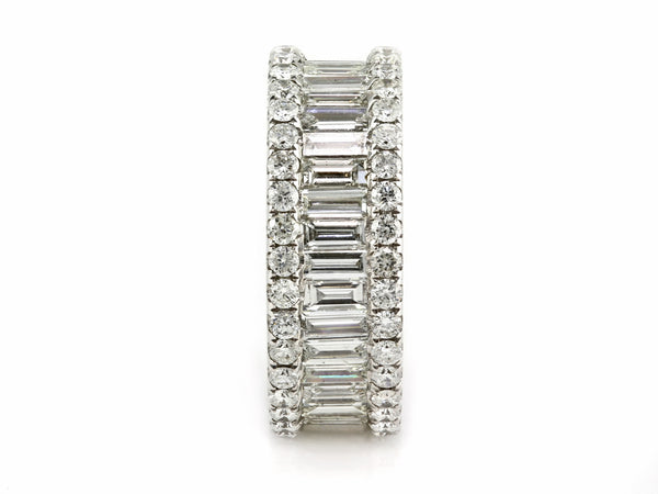 4.6ct Channel Pavé Diamonds in 14K White Gold 8mm Wide Eternity Band Ring