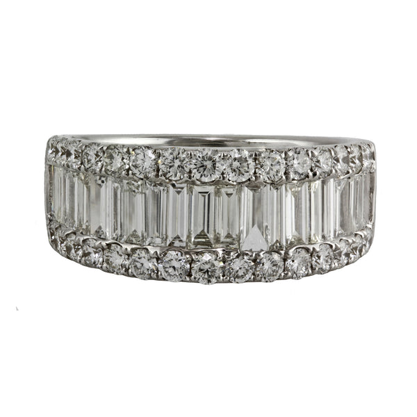 2.01ct Diamonds in 14K White Gold Half Eternity Band Ring