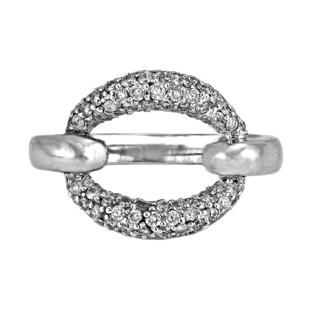 0.65ct Round Diamonds in 14K White Gold Statement O-Ring