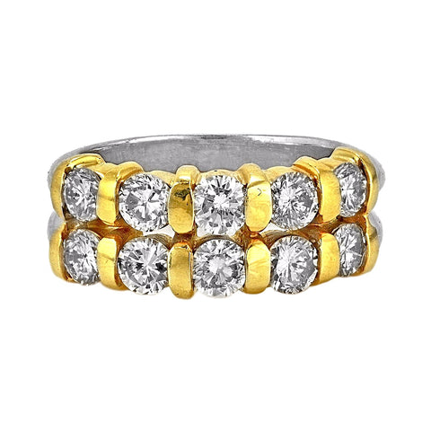 1.80ct Round Diamonds in 14K Two-Tone Gold Wedding Ring