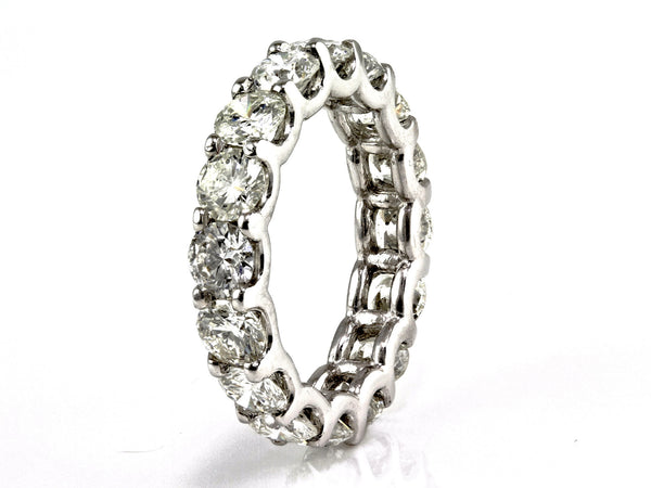 5.00ct Floating Round Diamond in 14K White Gold Eternity Band Ring