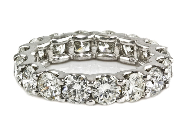 4.00ct Floating Round Diamond in 14K White Gold Eternity Band Ring