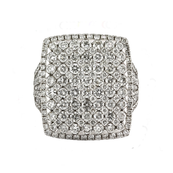 4.2tcw  Round Diamonds in 14K White Gold Wedding Anniversary Cocktail Ring