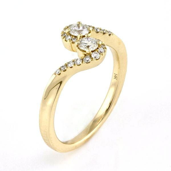 0.38ct Prong Pavé Diamonds in 14K Gold Burlesque Engagement Ring