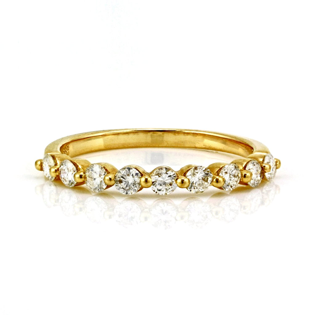 real link yellow presidential ring gold mens bands eternity diamond rng band