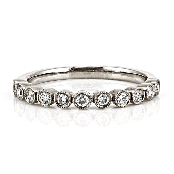 0.24ct Diamond in 14K Gold Single Bezel-Set Half Eternity Band