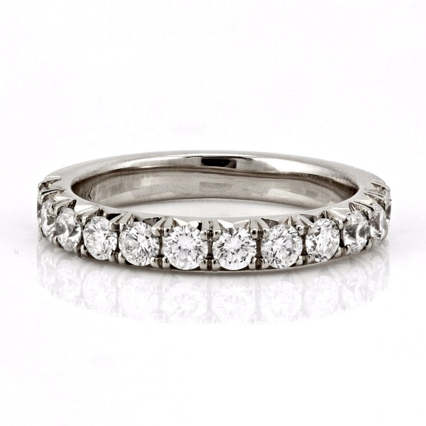 0.79ct French Pavé Diamond in 14K Gold Half Eternity Band