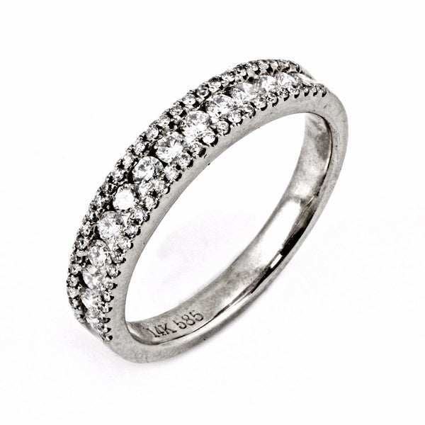 0.50ct Channel-Pavé Diamonds in 14K Gold Half Eternity Band