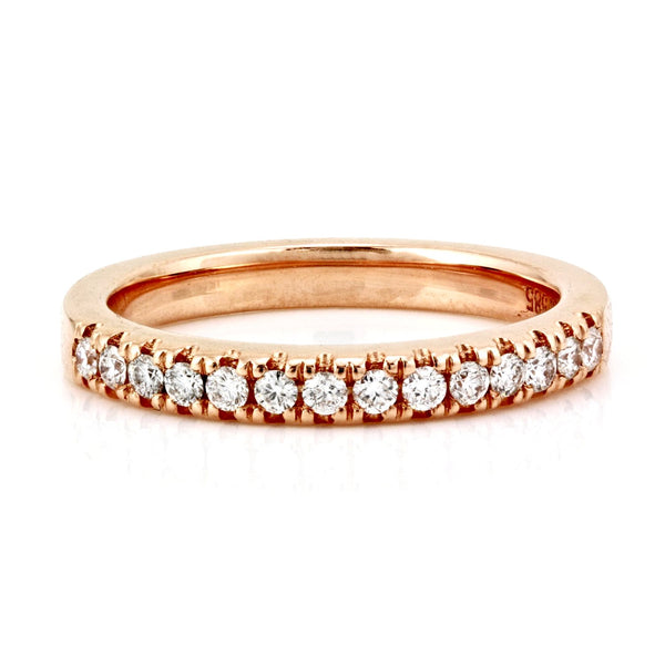 0.25ct French Pavé Diamonds in 14K Gold Half Eternity Band