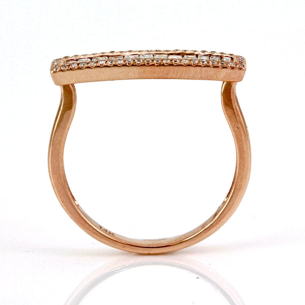 0.56tcw Channel-Pavé Diamonds in 14K Gold Horsebit Band Ring