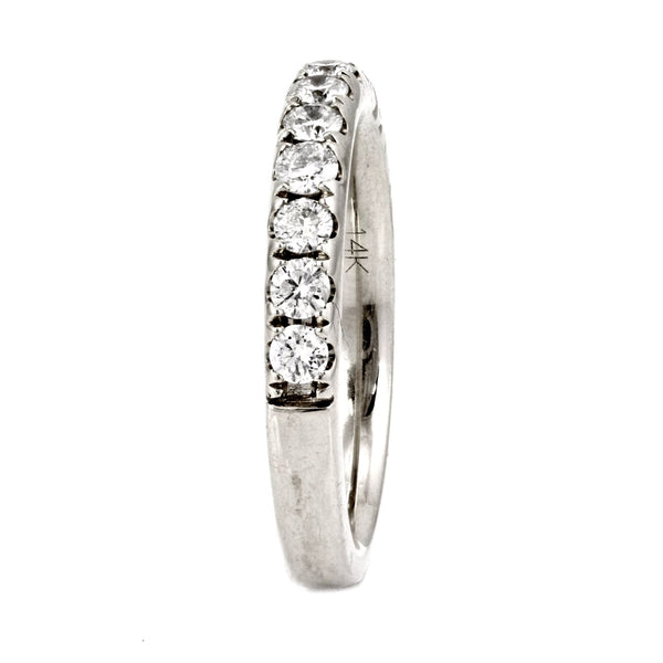 0.78ct Pavé Round Diamond in 14K Gold Half Eternity Band