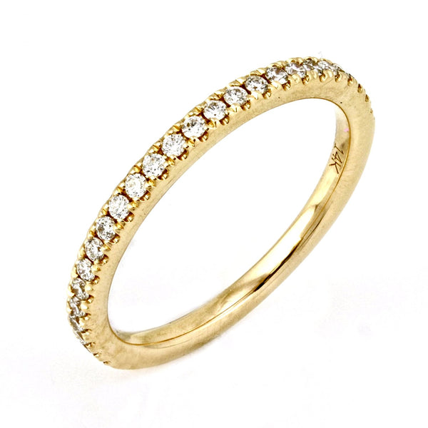 0.23ct Pavé Round Diamond in 14K Gold Half Eternity Band
