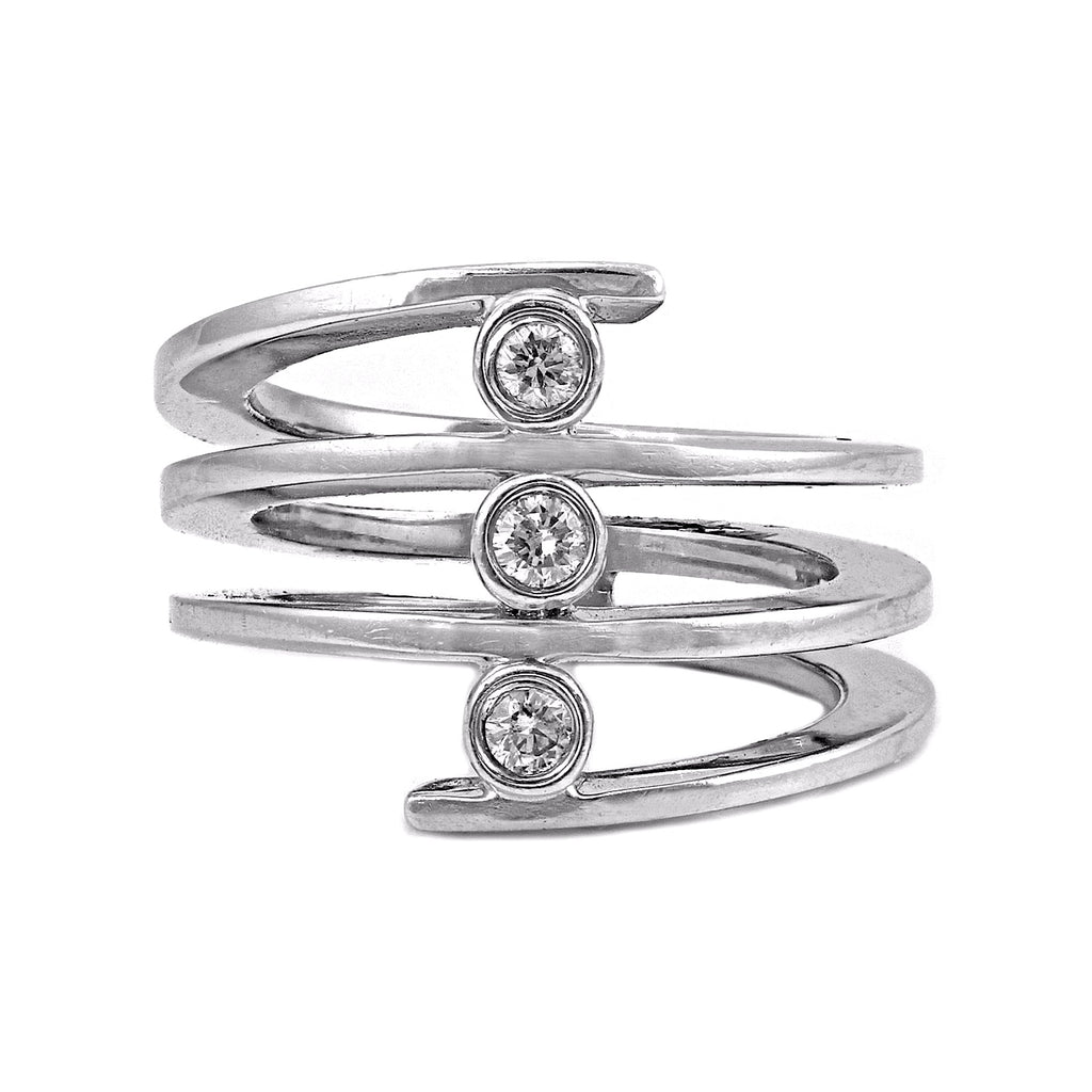 gold s engagement diamond index three ring channel set dunkin white