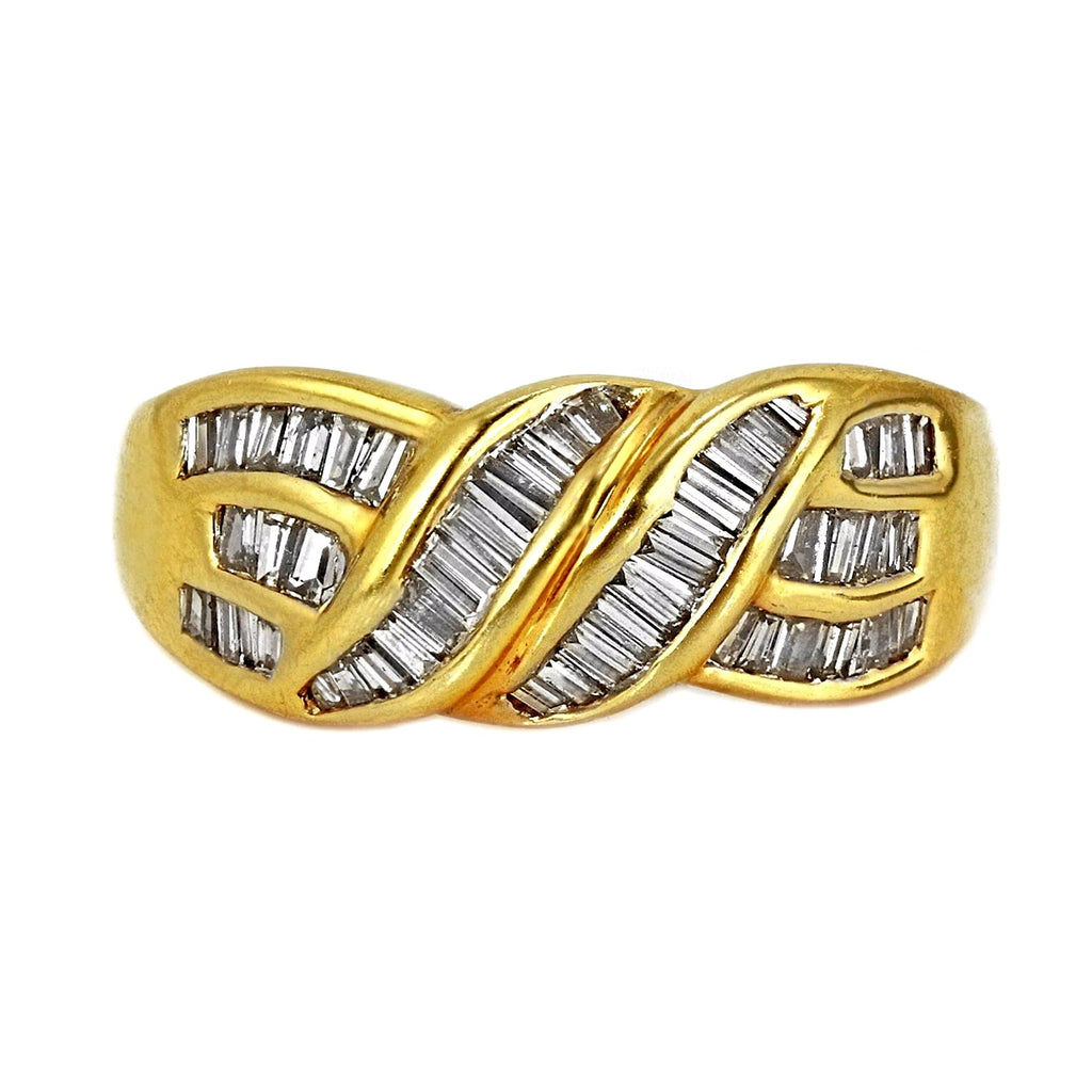 1.00ct Baguette Diamonds in 14K Yellow Gold Wedding Ring