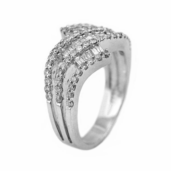 1.18ct Diamonds in 14K White Gold Anniversary Ring