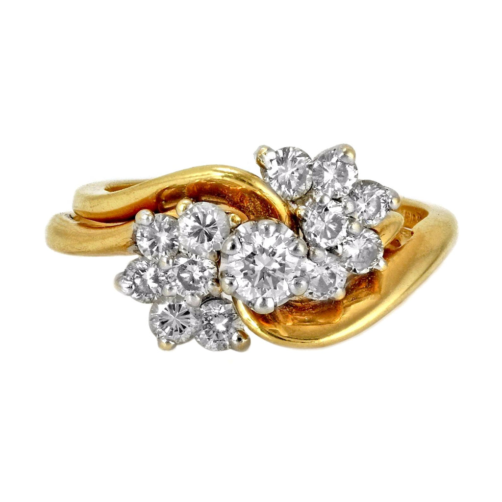 1.00ct Round Diamonds in 14K Yellow Gold Engagement Wedding Ring Set