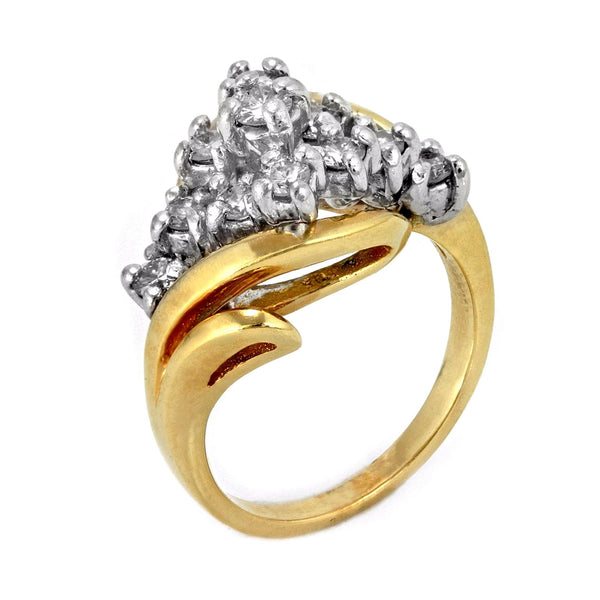 1.00ct Round Diamonds in 14K Yellow Gold Wedding Anniversary Ring