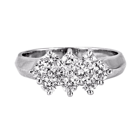 0.85ct Round Diamonds in 14K White Gold Wedding Ring