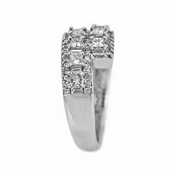 1.30ct Diamonds in 14K White Gold Wrap Band Ring