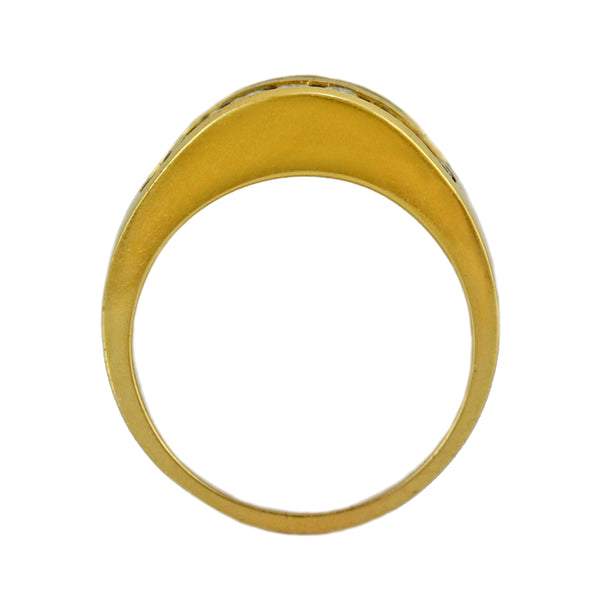 1.55ct Round Diamonds 14K Yellow Gold Domed Wedding Anniversary Ring