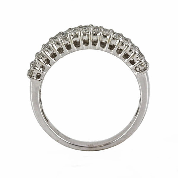0.93ct Round Diamond in 14K White Gold Wedding Band Ring