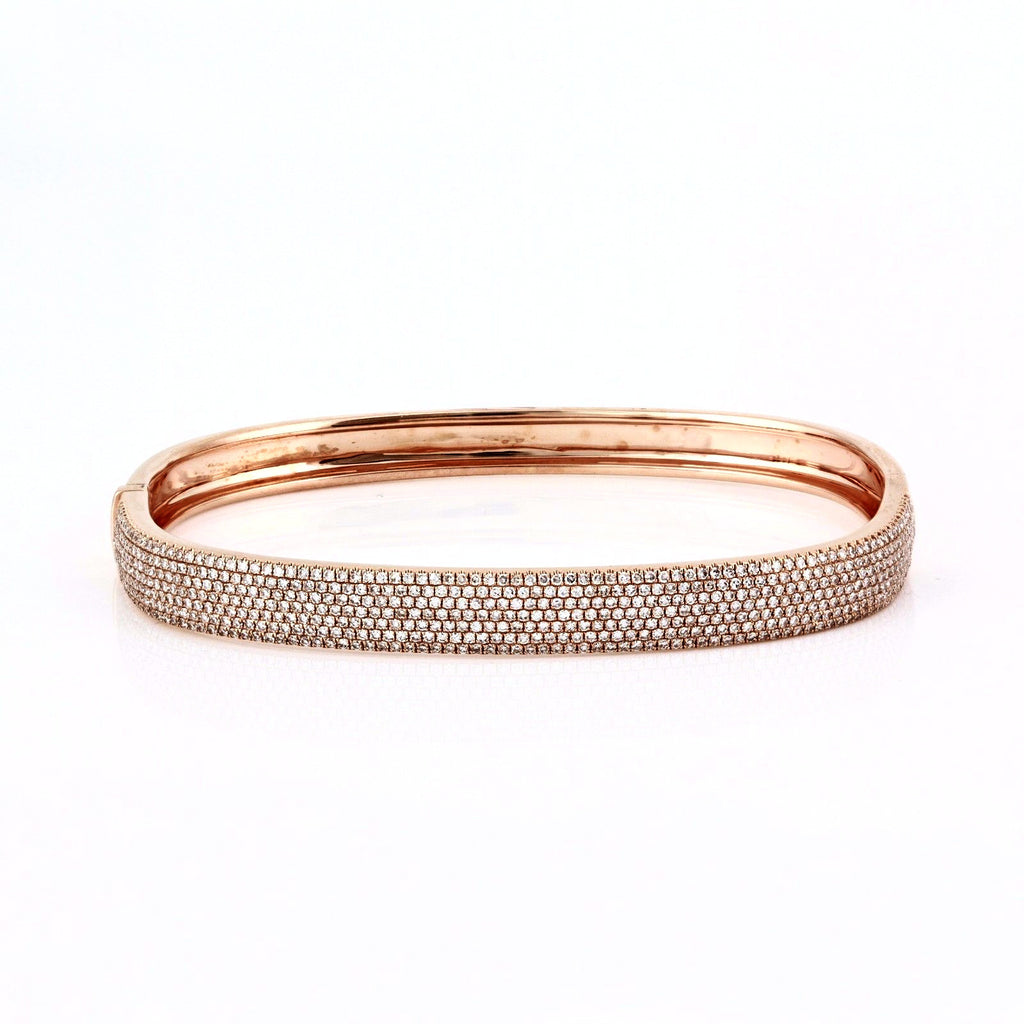 bangle bracelets white bangles setting zocai gold round cut item free ct braclets bracelet certified cuff pave jewelry diamond