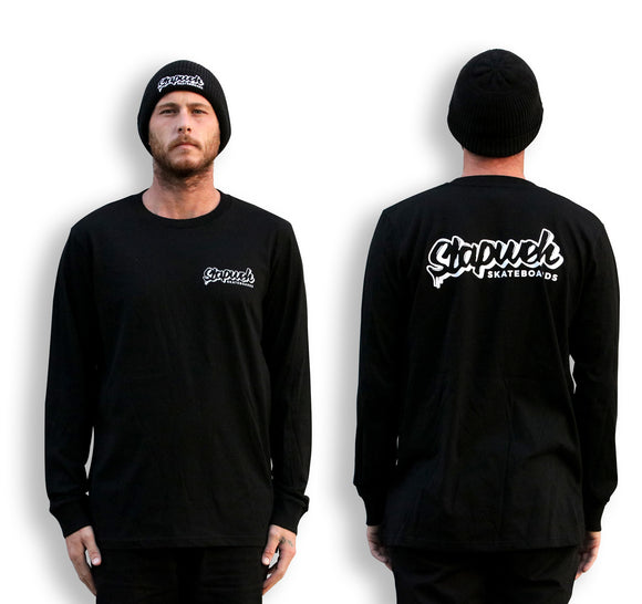 Logo Long Sleeve Tee | FLASH SALE-T-Shirts-Slapweh Skateboards