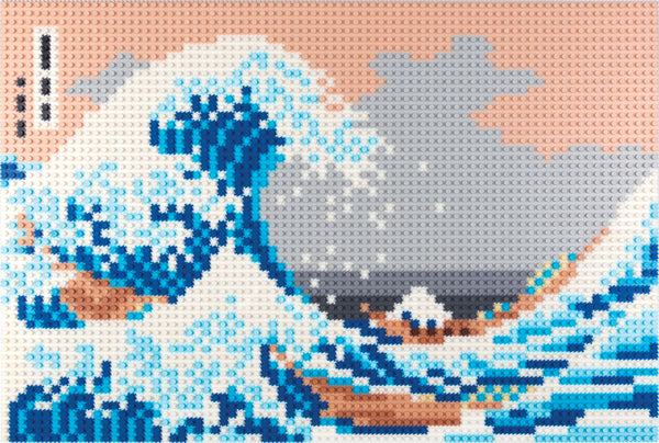 The Great Wave Pixel Puzzle