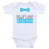 "Baby Boy One-Piece Shirts ""Daddy's Little Wingman"" Baby Boy Onesies"