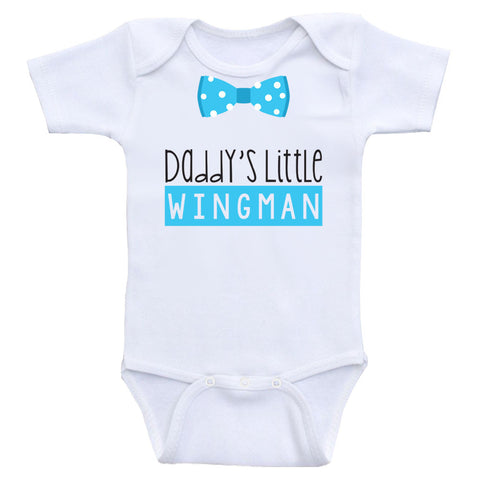 "Baby Boy One-Piece Shirts ""Daddy's Little Wingman"" Baby Boy Clothes"