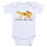 "Funny Baby Boy Clothes ""Chicks Dig Me"" Onesies For Baby Boys"