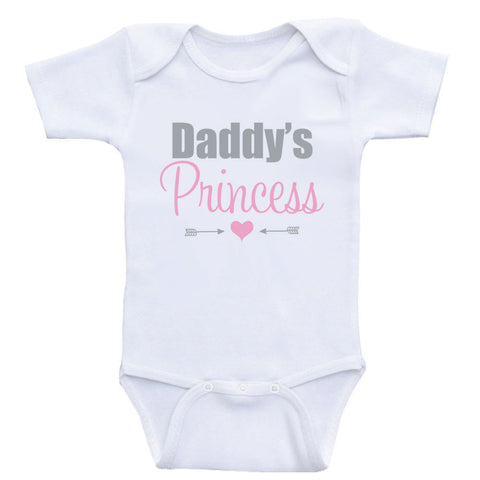 "Cute Baby Girl Clothes ""Daddy's Princess"" One-Piece Baby Girl Shirts"