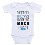"Aunt Baby Onesie ""Just Like My Aunt"" Funny Aunt Baby Clothes"