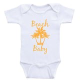 "Beach Baby Clothes ""Beach Baby"" Cute Baby Onesies"