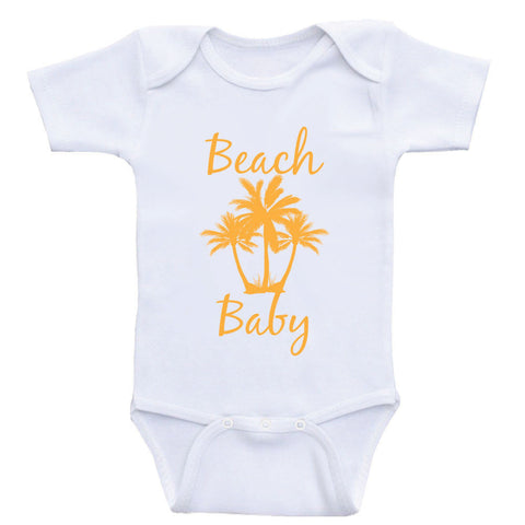 "Beach Baby Clothes ""Beach Baby"" Cute Baby One Piece Shirts"