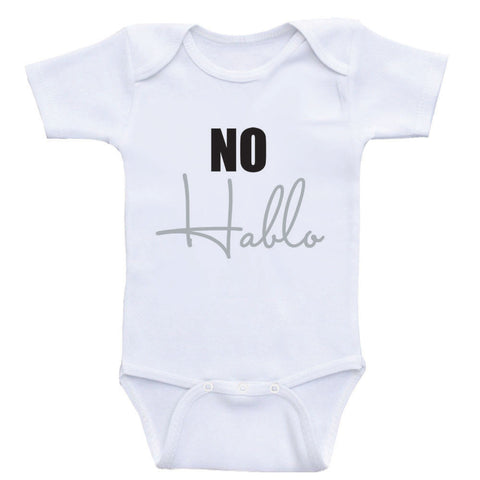 "Funny Baby Clothes ""No Hablo"" One-Piece Shirts For Babies"