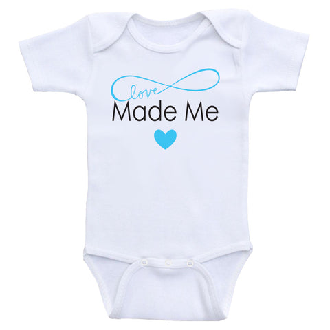 "Cute Baby One Piece ""Made With Love"" Cute Gender Neutral Baby Bodysuits"