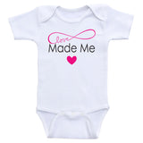 "Cute Baby One Piece ""Made With Love"" Cute Gender Neutral Baby Onesie Bodysuits"