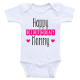 "Birthday Baby Clothes ""Happy Birthday Mommy"" Cute Birthday Baby One Piece"