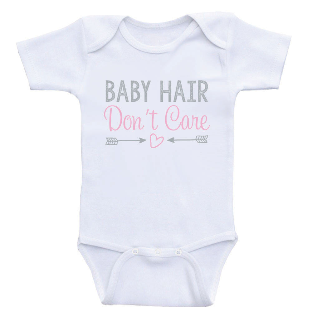 Newborn Baby Clothes Baby Hair Don T Care Funny Cute Baby Onesies