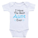 "Aunt One-Piece Baby Shirts ""I Have The Best Aunt Ever"" Newborn Baby Clothes Bodysuits"