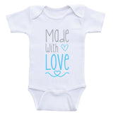"Baby Onesies ""Made With Love"" Cute Baby Clothes Bodysuits"