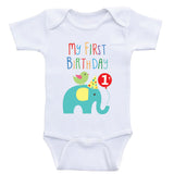 "1st Birthday Baby Clothes ""My First Birthday"" Cute Birthday Baby One-Piece Shirts"