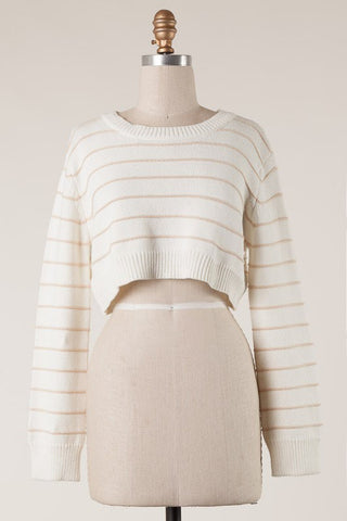 Indy Crop Sweater - Nineteen Boutique