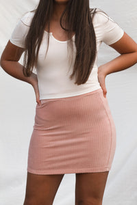 The Lola Skirt - Dusty Pink