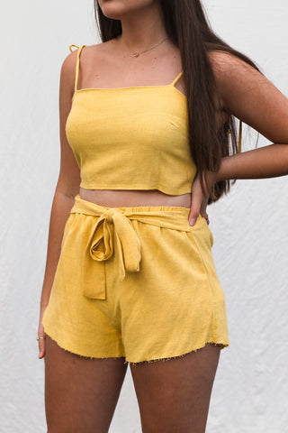 Haven Shorts - Yellow