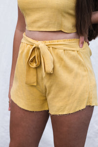 WAREHOUSE SALE: Haven Shorts - Yellow