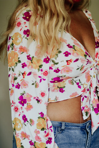 Where Love Grows Floral Top