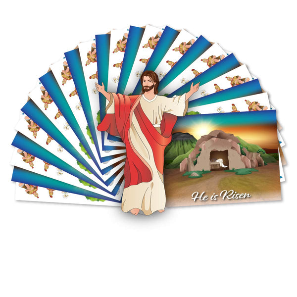 Resurrection Stickers - 12 Sets - Easter Crafts for Kids