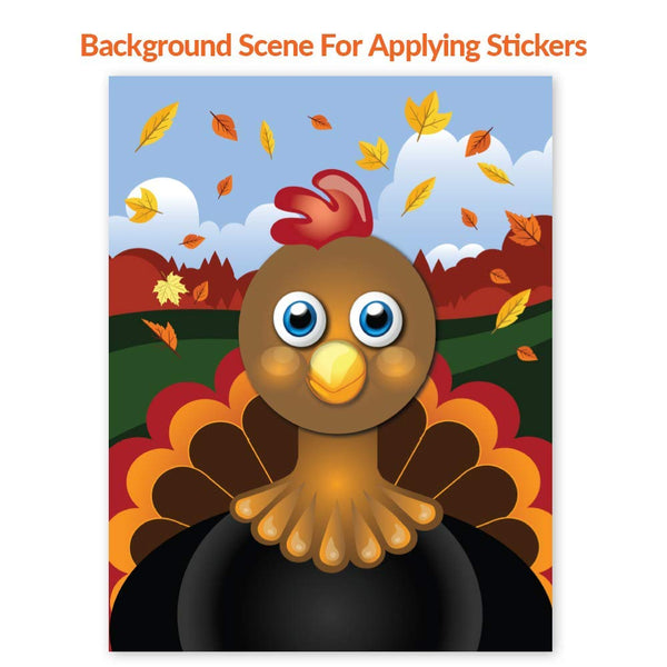 Create A Turkey Sticker Sets